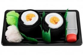 kolorowe skarpetki sushi na prezent, sushi skarpetki w pudełku 1 para: maki rzepa