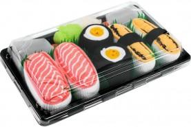 Sushi Skarpetki w Pudełku 3 Pary: Tamago, Maki Oshinko, Łosoś, kolorowe bawełniane skarpetki, idealny prezent na każdą okazję