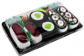 Sushi skarpetki w pudełku, zestaw 3-pary, kolorowe bawełniane skarpety, bawełna czesana OEKO-TEX