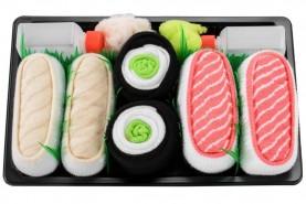 Skarpetki Sushi Socks Box - 5 par - Łosoś, Ryba Maślana, Tuńczyk, Maki Ogórek, Maki Rzepa