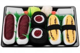 Skarpetki Sushi Socks Box - 5 par - Łosoś, Omlet Tamago, Tuńczyk, Maki Ogórek, Maki Rzepa