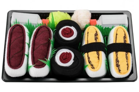 5 pairs - Salmon, Tamago Omelette, Tuna, Maki Cucumber, Maki Turnip