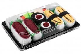 Sushi Socks Box by Rainbow Socks, 3 Pairs, Sushi Tamago Tuna Maki Tuna Socks