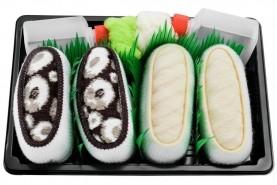 Skarpetki Sushi Socks Box - 2 pary - Łosoś, Maki Ogórek