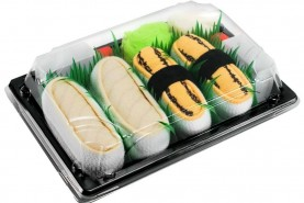 Sushi Socks Box Tamago Butterfish