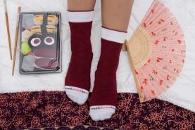 Sushi Socks Box 2 Pairs, Tuna Maki fashion socks, funny gift for every occasion, 2 pairs