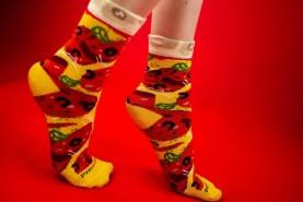 Pepperoni pizza Woman Socks, pizza socks box