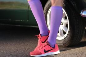 knee high running socks