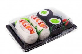 Sushi Socks Box Shrimp Nigiri Cucumber Maki