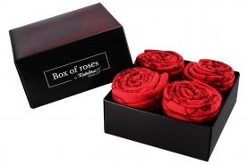 Czerwone skarpetki wieczne róże dwie pary