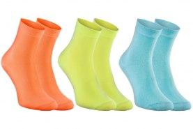 orange lemon blue antibacterial cotton socks