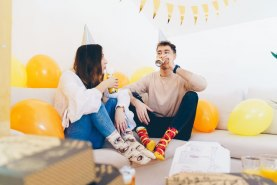 Colourful cotton socks, pizza & beer socks box 5 pairs, unisex product for women and men