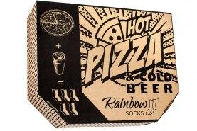 Zestaw skarpetek pizza i piwo, 5 par kolorowych skarpet bawełnianych