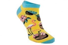 party ankle socks flamingo
