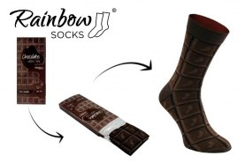 dark chocolate socks for real candy lover
