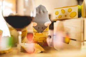 yellow Cheese socks