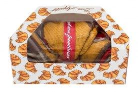 Raspberry Croissant Socks Box