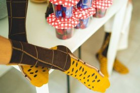 French speciality  chocolate Croissants Socks