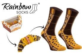 dark chocolate croissant socks by Rainbow Socks