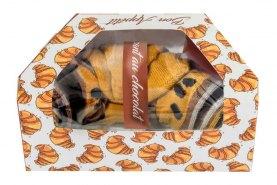 chocolate croissant socks 1 pair