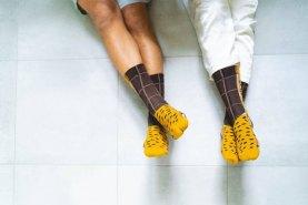 socks for men and for women, chocolate Croissants Socks