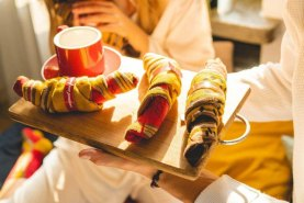 Unique Designs Socks, french croissants