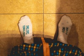 toilet paper socks box, socks that look like real toilet paper, socks with funny text
