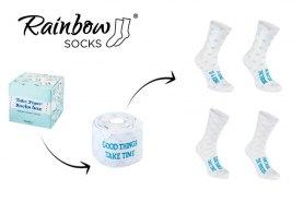 Toilet Paper Socks Box 2 Pairs, funny gift idea for every joker