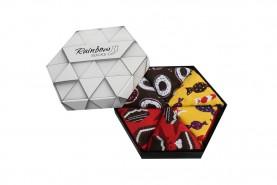skarpetki w słodycze spakowane w pudełko, 3 pary