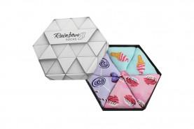 skarpetki słodycze w pudełku 3 pary
