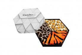 Skarpetki w pudełku, motywy dzikich zwierząt