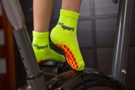 Non Slip NEON Sport Socks with ABS Grips for Children
