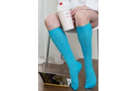 Cotton Openwork Knee-High Socks