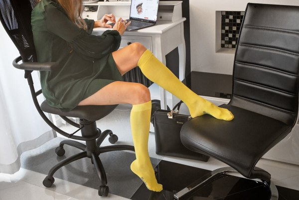 Colourful knee high Socks Women,