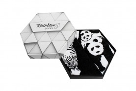 Black and White Socks with Zebra and Panda
