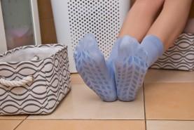 Ant-slide bamboo socks women,