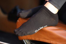 cotton ankle socks black