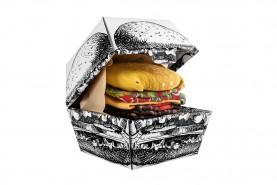Skarpetki w kształcie burgera 2 pary