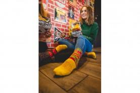 funny socks looking like Burger