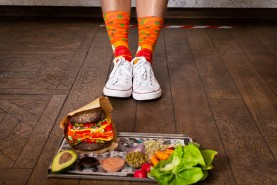 Socks looking like Vegan burger