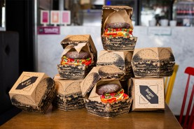 Vegan burger socks box