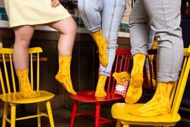 gift for fries fan, fries socks uniseks