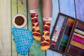 Pepperoni Pizza Socks Women