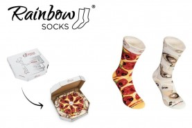Pepperoni Pizza Socks Box, perfect gift for pizza lovers