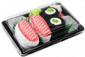 Sushi skarpetki w pudełku 2 pary: łosoś, maki ogórek, uniwersalny prezent dla każdego