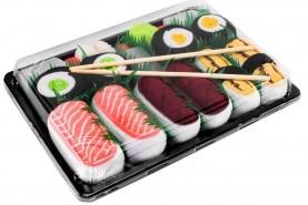 Sushi skarpetki w pudełku 5 par, Łosoś, Tamago, Maki Tuńczyk