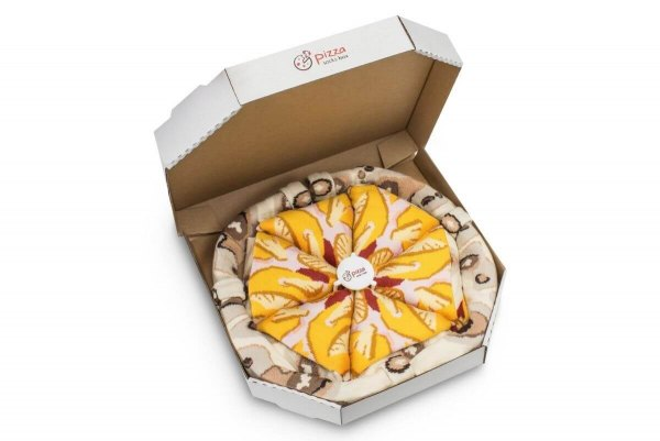 Pizza skarpetki w pudełku, pizza hawajska