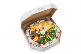 Pizza skarpetki mix 4 pary: włoska, wegetariańska, hawajska