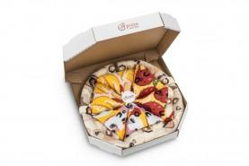Pizza Skarpetki w Pudełku Mix: hawajska, pepperoni, cappriciosa, zestaw 4 par, skarpety wysokiej jakości