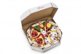 Pizza socks box mix: capricciosa, pepperoni, vegetariana, Pizza Socks for gift